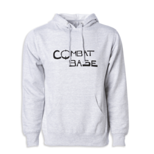 Front View of the Heather Gray Combat Base Pullover Hoodie